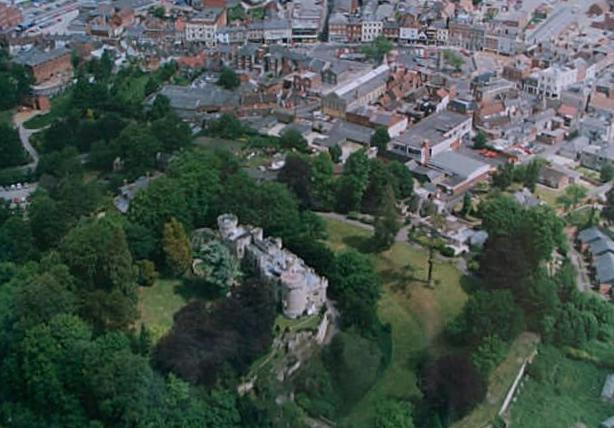Devizes Castle from the air